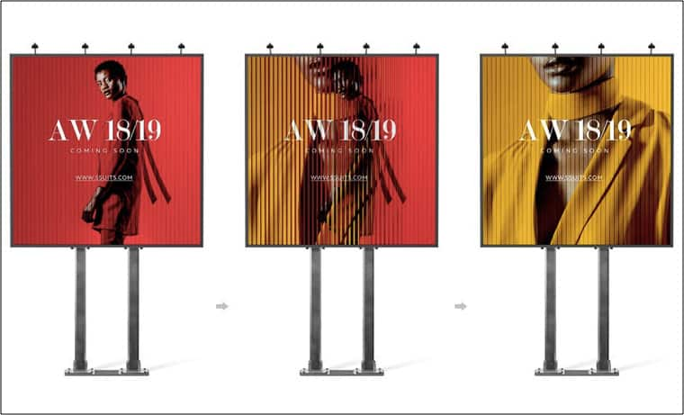Rotating Surface Billboard mockup