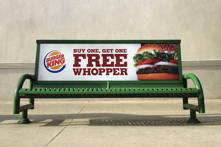 Bus Stop Bench Billboard mockup