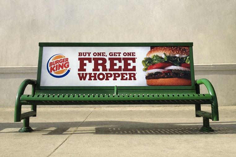 Bus Stop Bench Billboard mockup