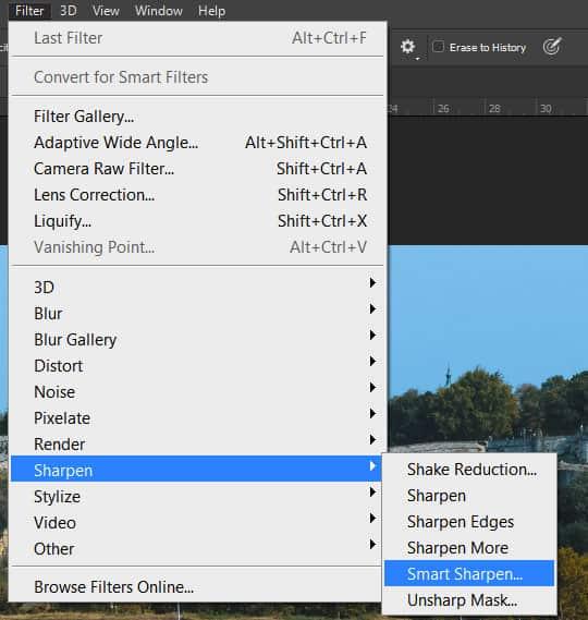 Photoshop smart sharpen filter