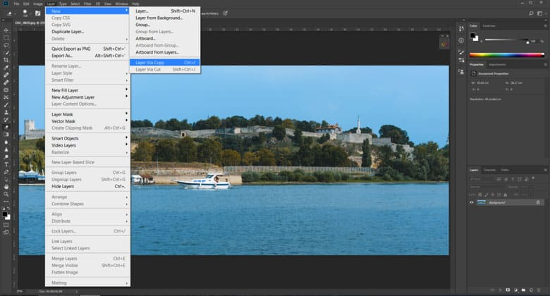 Make a copy of a layer in adobe photoshop
