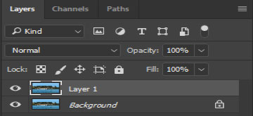 Convert a layer into a smart object step 1