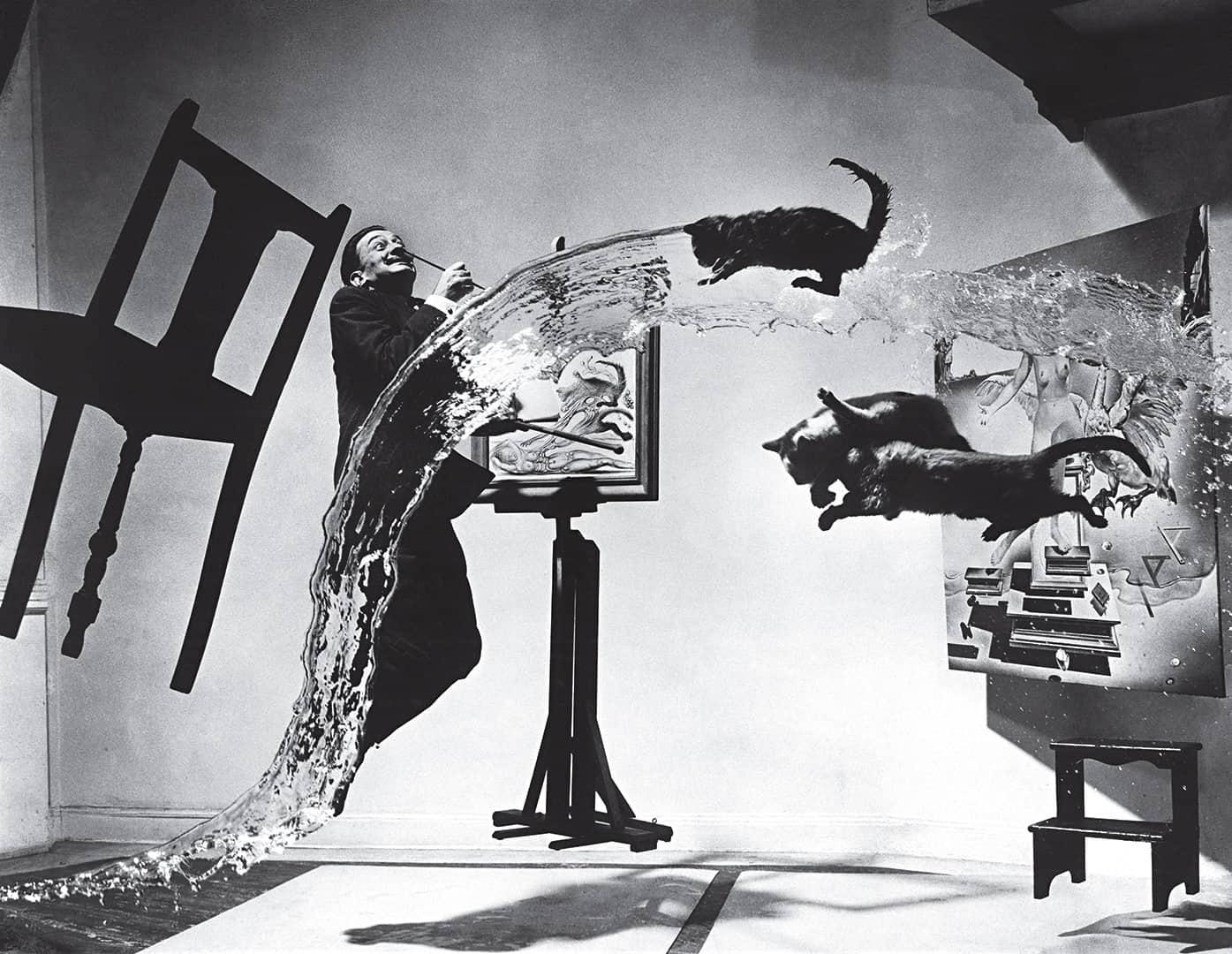 Levitation Photography by Halsman and Salvador Dali