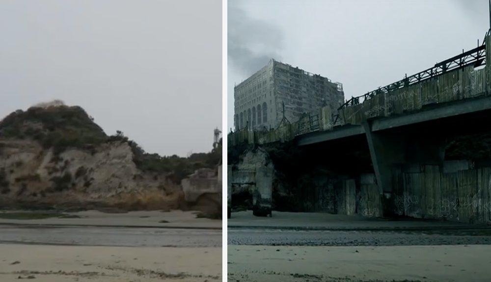 abandoned city matte painting