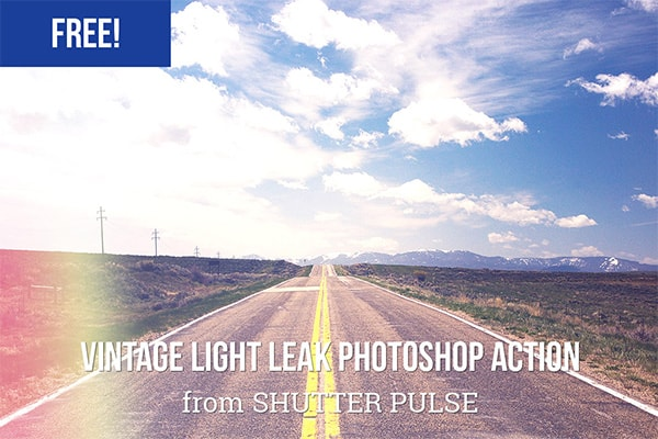 Vintage Light Leak Photoshop Actions