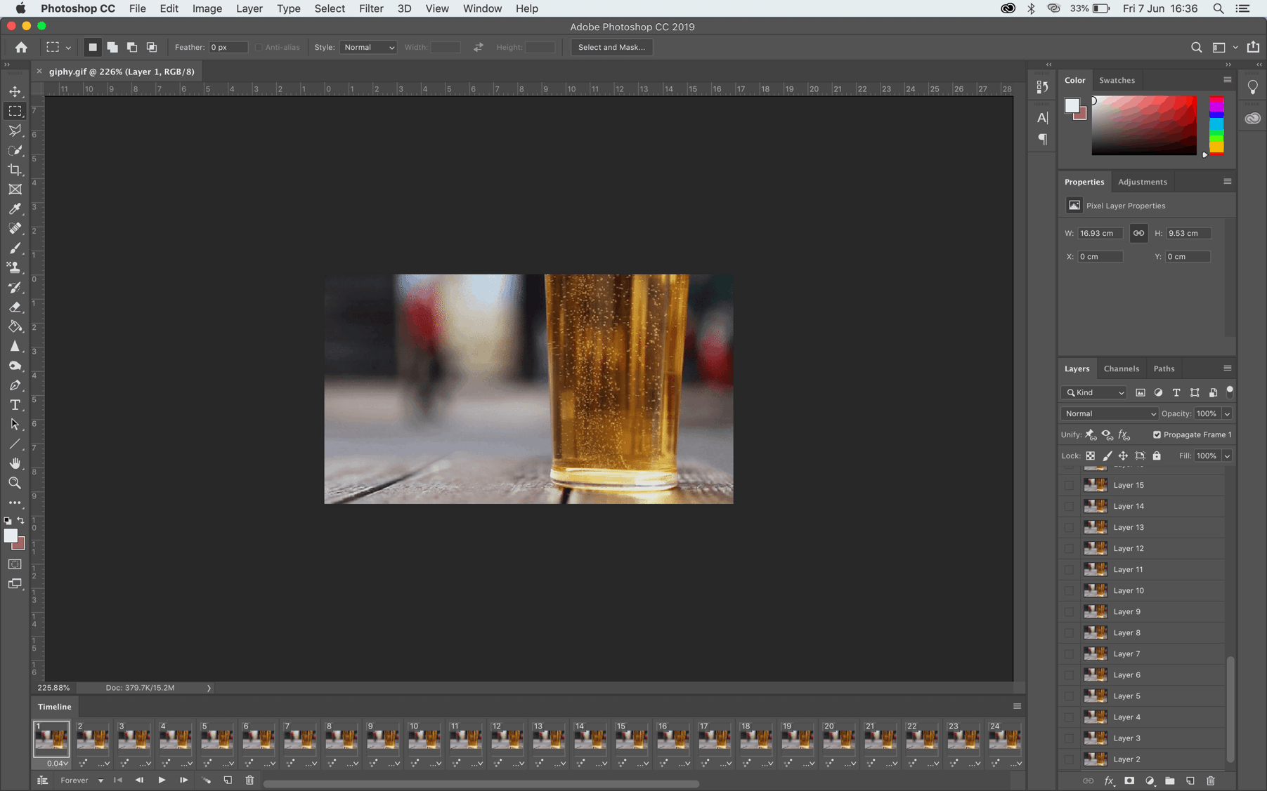 GIF timeline in Photoshop