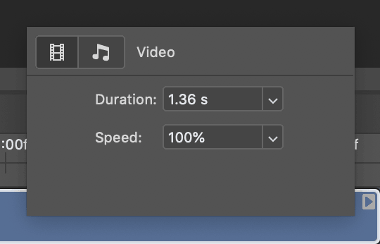 time duration video photoshop