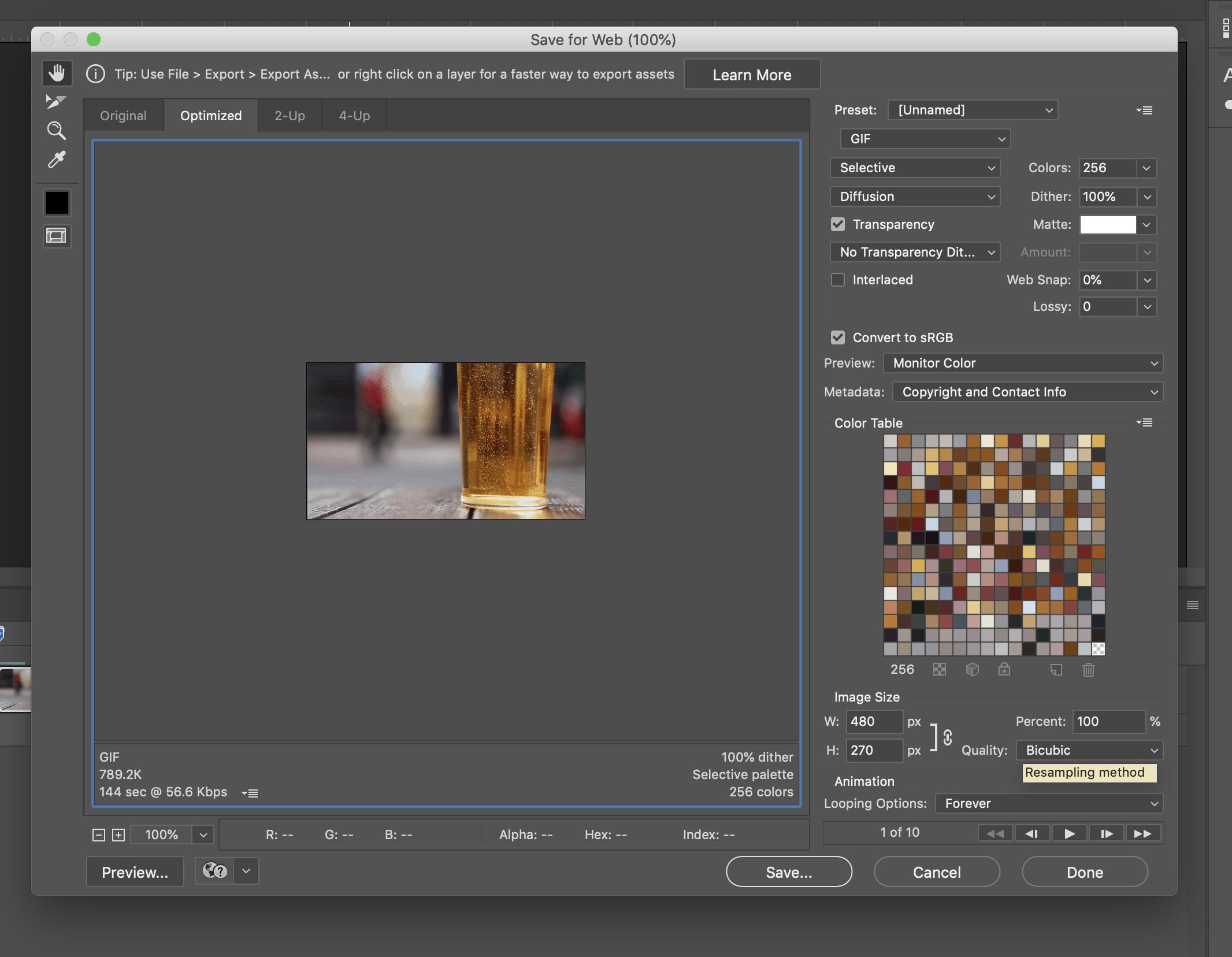 gif exporter photoshop