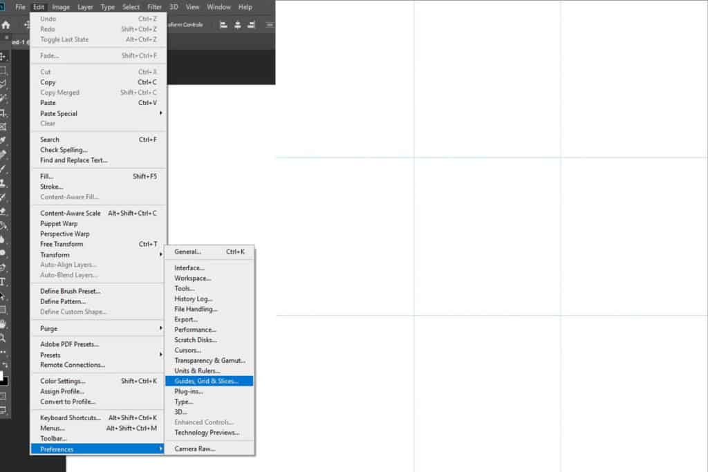 create rule-of-third grid in photoshop