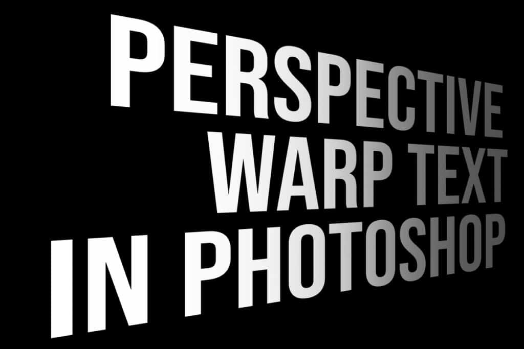perspective warp text in Photoshop