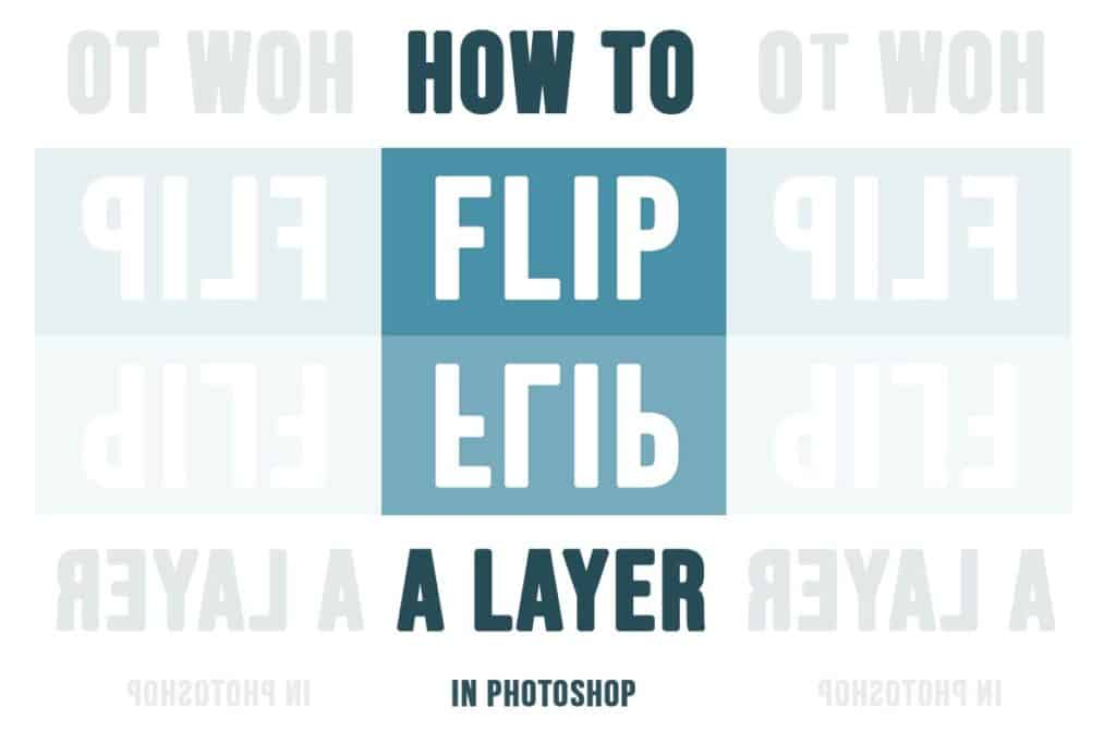 flip a layer in photoshop