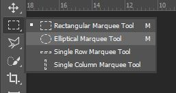 elliptical selection tool photoshop