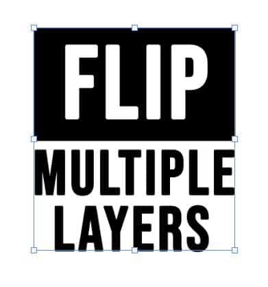 flip multiple layers photoshop