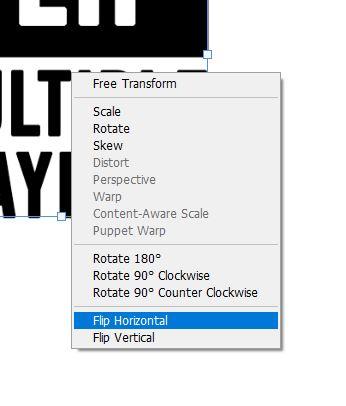 flip horizontal option photoshop
