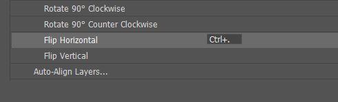 keyboard shortcut panel menu photoshop