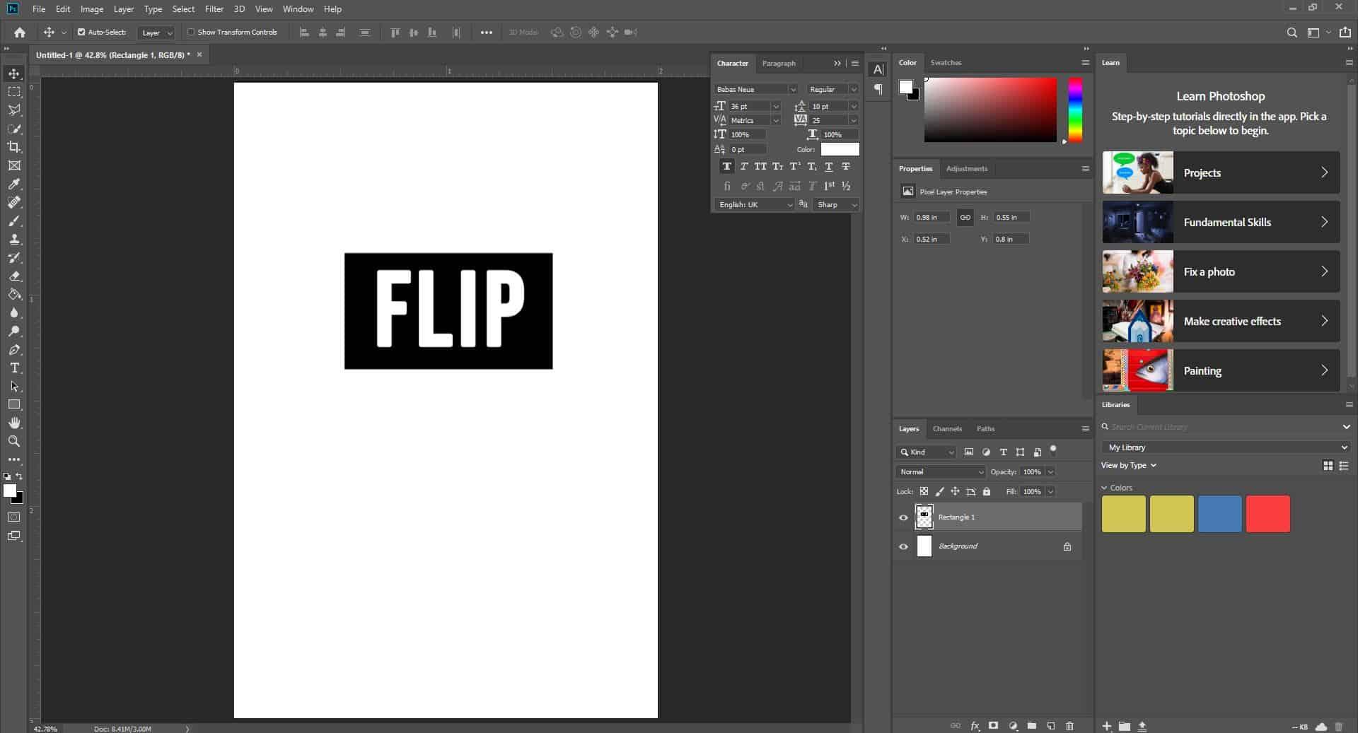flip layer photoshop