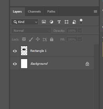 Two layers in the layer panel photoshop