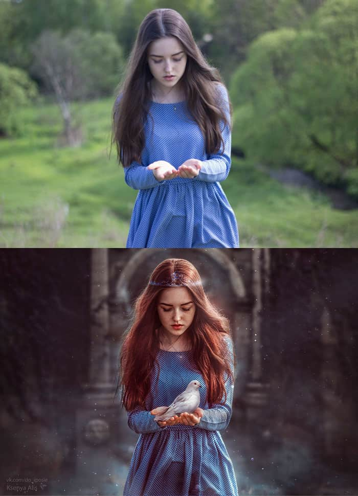 before and after photoshop images
