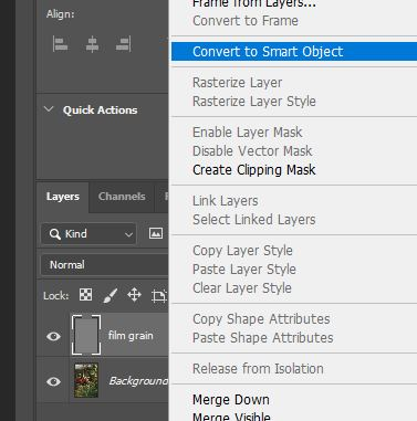 convert to smart object photoshop