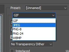 save for web in jpeg photoshop