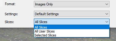 save sliced file from photoshop