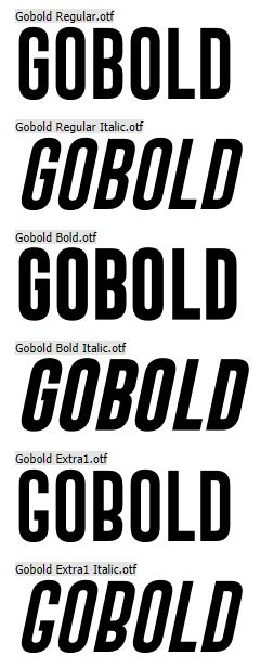 gobold font preview
