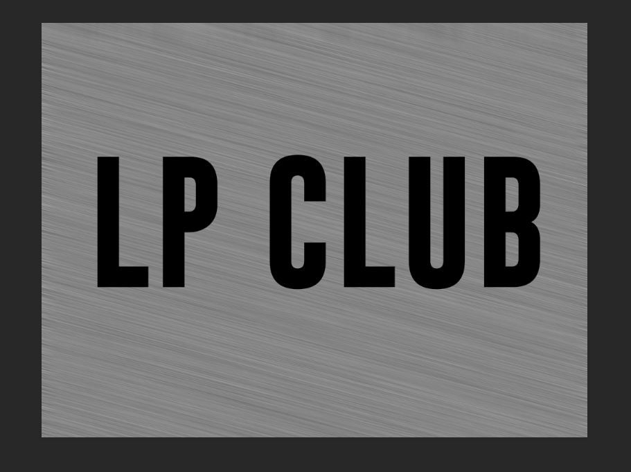 LP Club black text
