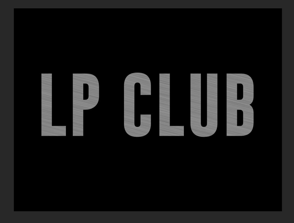 LP club metallic text effect tutorial