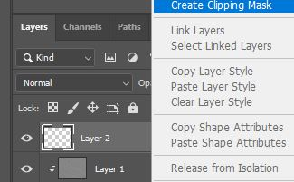 create a clipping mask photoshop