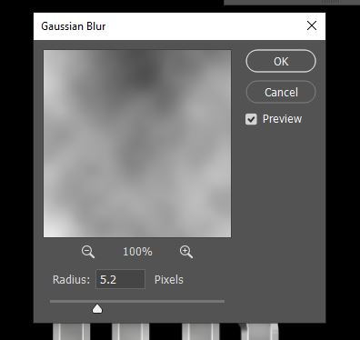 gaussian blur option panel