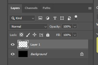 layer panel window in photoshop