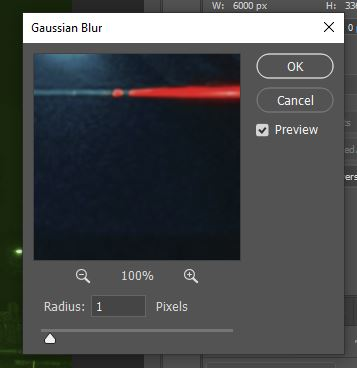 gaussian blur filter photoshop