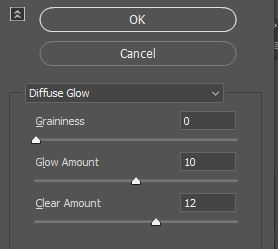 diffuse glow filter settings