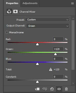 channel mixer option photoshop