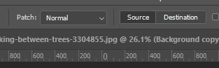 source patch tool option photoshop
