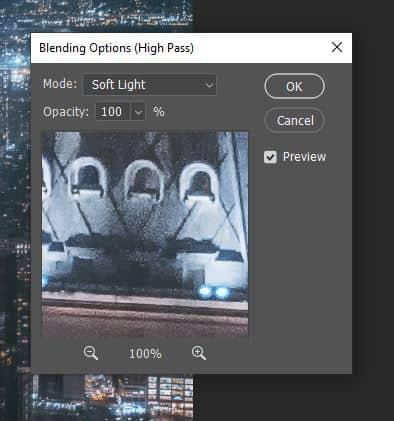 soft light high pass blending option photoshop