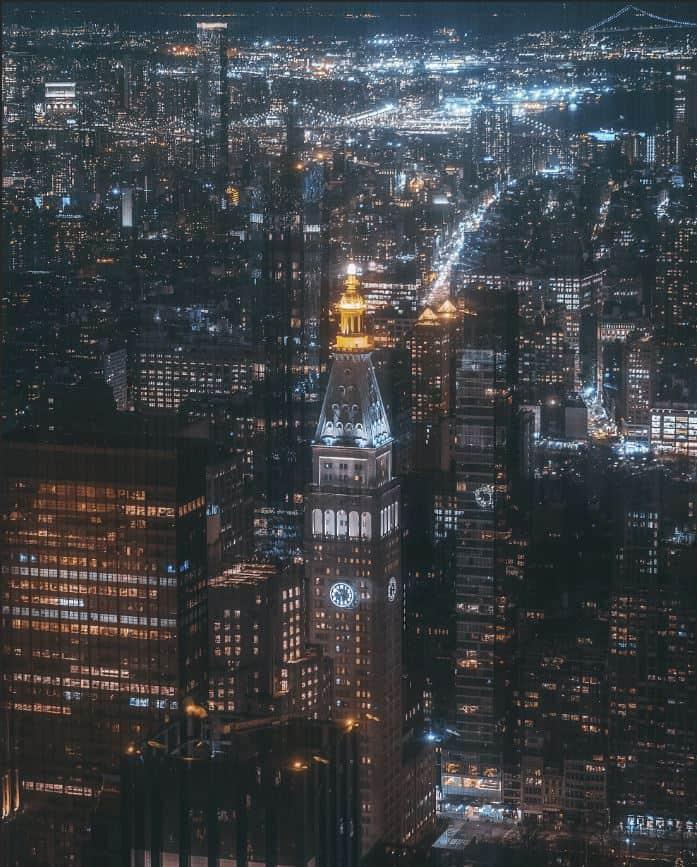 city landscape aerial shot