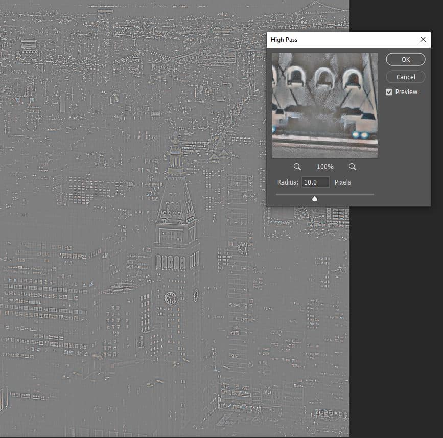 high pass filter in action photoshop