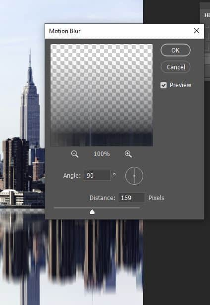 motion blur option photoshop