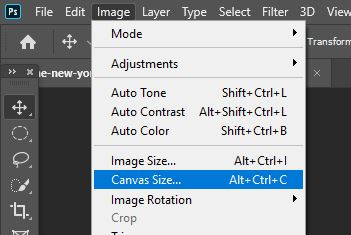 image change canvas size