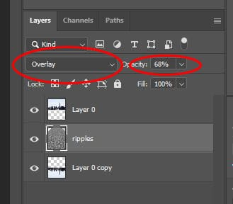 overlay layer blend mode Photoshop