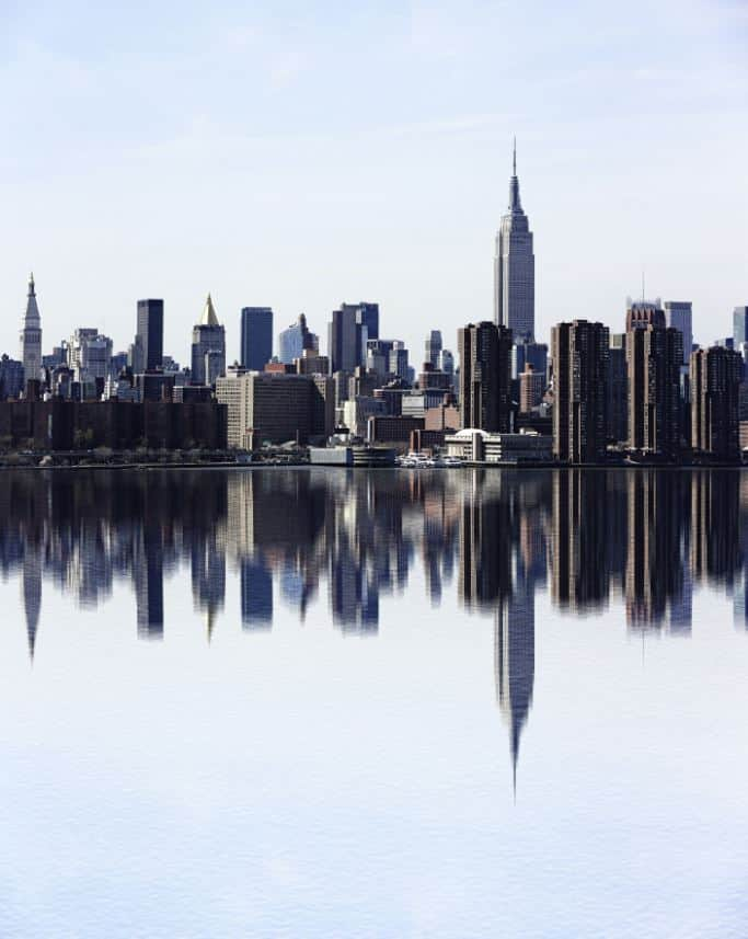 Cityscape create water reflection photoshop