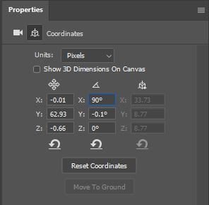 photoshop 3d coordinates
