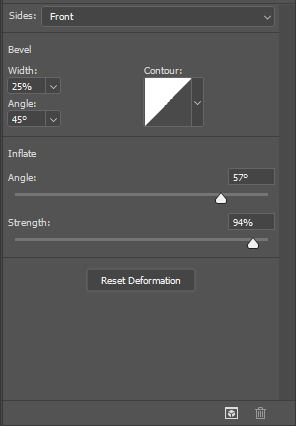 photoshop 3d settings