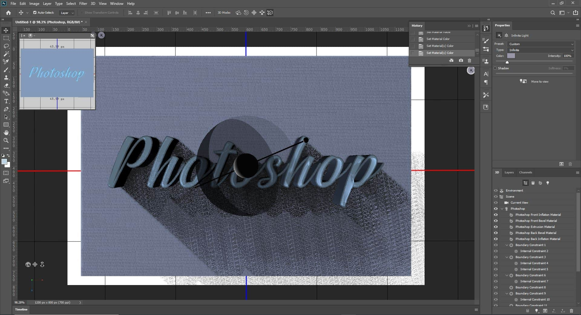3d  with text photoshop