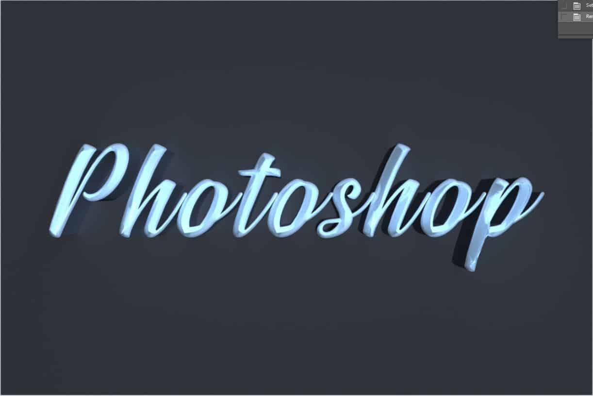 photoshop 3d text tutorial