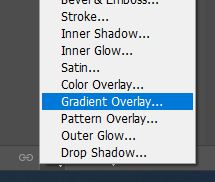 photoshop gradient overlay