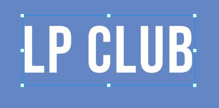 LP CLUB written on blue background