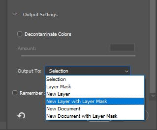 select and mask option in photoshop