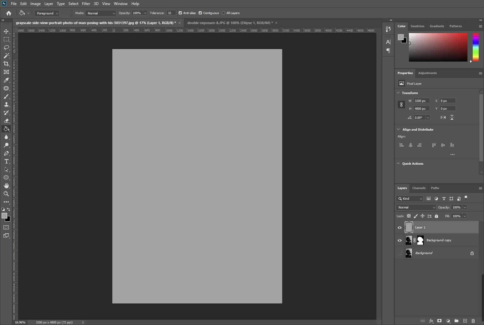 light grey background in photoshop